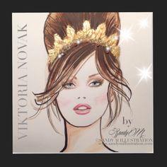 Viktoria Novak crown illustration by Fashion Illustrator SANDY M #sandymillustration #crown #sandym #fashionillustration #illustration www.sandymillustration.com