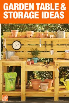 Indoor Gardening Quick, Clean Up, And Pesticide Free - Make Your Own The Home Depot Has Everything You Need For Your Home Improvement Projects. Snap To Learn More And Shop Available Home And Garden Products. Garden Yard Ideas, Garden Table, Garden Crafts, Garden Projects, Diy Pallet Projects, Outdoor Projects, Outdoor Ideas, Potting Tables, Florida Gardening