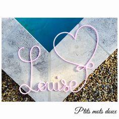 P'tits mots doux - Prénom + coeur ♡
