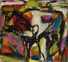 "Elaine de Kooning  Bull  Oil on canvas, 72"" x 84"""