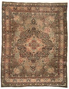 19th Century Laver Kirman Room Size Oriental Carpet