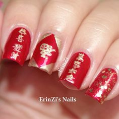 Nail art design chinese new year