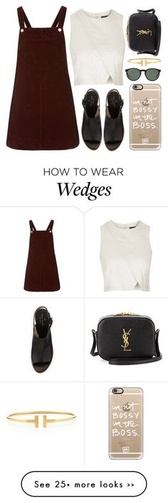 """""""♡"""" by brenndha on Polyvore featuring Topshop, Kate Spade, Casetify, Yves Saint Laurent, Polo Ralph Lauren, Tiffany & Co., GetTheLook, StreetStyle, gorgeous and Luxe"""