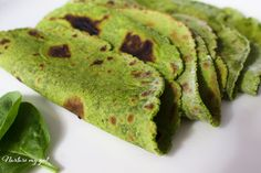 Homemade Gluten Free Spinach Tortillas made from fresh spinach leaves. Perfect for wraps, burritos and stews! Paleo friendly, vegan and nut free.