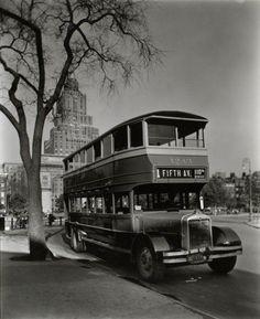 Bus, Washington Square c. 1936.