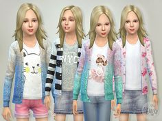 The Sims Resource: Pretty Cardigan by lillka This is adorable! Cant wait to get on my laptop and try it out