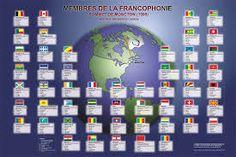 Risultati immagini per francophonie + drapeaux à colorier