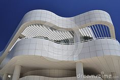 Modern contemporary building design with curved corners.