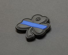 Thin Blue Line Clover PVC Patch Police Morale Patch Lucky Irish LEO