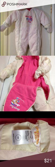 Selling this Outbrook kids reversible pink white snowsuit 18m on Poshmark! My username is: jalenagraham. #shopmycloset #poshmark #fashion #shopping #style #forsale #Other