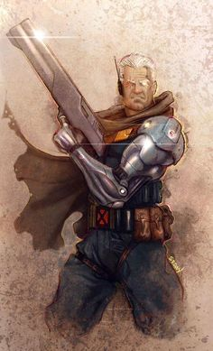Cable by Sebastian SEBAN Note: All credit to the original artist Cable Marvel, Hq Marvel, Marvel Dc Comics, Marvel Heroes, Cable Xmen, Marvel Comic Character, Comic Book Characters, Marvel Characters, Comic Books Art