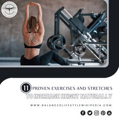 11 Proven Exercises and Stretches to Increase Height Naturally! #health #healthy #healthybody #healthylifestyle #healthyliving #healthandwellness #healthandwellbeing #healthandfitness #fitness #exercise #balancezthekey #wellness #wellbeing #yogastretch #growtaller4idiots #growtallerforidiots #gettaller4idiots #growtaller #increaseheight #gettaller #howtogrowtaller Stretching Exercises, Stretches, Increase Height, How To Grow Taller, Health And Wellbeing, Healthy Lifestyle, Healthy Living, Muscle, Fitness