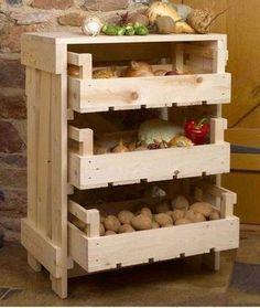Build a mobile kitchen island unit with timber crate pantry storage! Build a mobile kitchen island unit with timber crate pantry storage! Fruit Storage, Pantry Storage, Diy Storage, Storage Ideas, Crate Storage, Kitchen Storage, Food Storage, Onion Storage, Kitchen Pantries