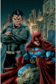 Superman And Batman trade colors by Nooby5 on deviantART