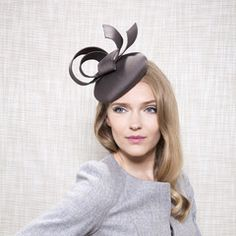 Gina Foster Millinery - Chromite - Silk Cocktail Hat with Ribbons