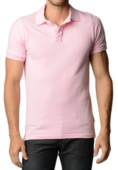 Men's Cotton Slim Fit Pink Polo Shirt - Dad's shirt for my wedding