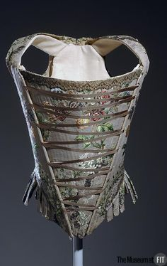 Corset  Medium: Multicolor silk brocade  Date: c.1750  Country: France