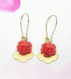 Rose & Gingko Earrings by Luna Litka on Scoutmob Shoppe