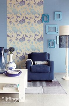 General room design inspiration plus striking peacock blue accents!