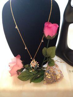 Fashion Jewelry A/B Rhinestone Pendant Necklace by BEJEWELEDHEAVEN
