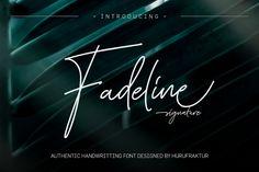 Fadeline (Font) by hurufraktur · Creative Fabrica Handwritten Script Font, Script Logo, Signature Fonts, Signature Style, Commercial Fonts, Different Words, Wedding Logos, Premium Fonts, All Fonts