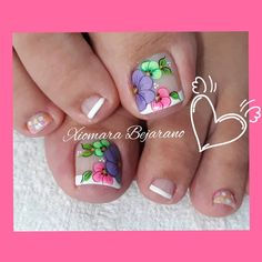 Pretty Toe Nails, Pretty Toes, New Nail Art Design, Nail Art Designs, Summer Toe Nails, Butterfly Nail, Cute Acrylic Nails, Manicure And Pedicure, Eye Makeup