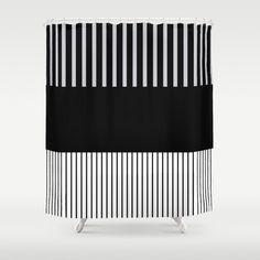 Colour Pop Stripes - Green (Mint) Shower Curtain by laec Gray Shower Curtains, Bathroom Curtains, White Shower, Colorful Curtains, Colour Pop, Stripes, Grey, Hooks, Crisp