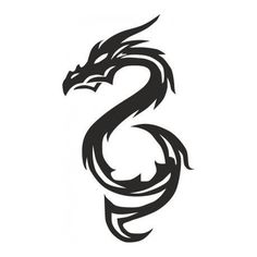 Dragon Tattoo CDR DXF Vector Layered Cut File Silhouette Cameo Cricut Design Template Stencil Vinyl Decal Tshirt Heat Transfer by SvgDrawingsStore on Etsy Tattoos, Stencil Vinyl, Bikini Tattoo, Dragon Tattoo, Dragon, Dragon Design, Stencils