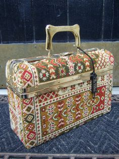 Stylish Vintage Carpet Box Bag Made in by worldmarketproductio, $125.00