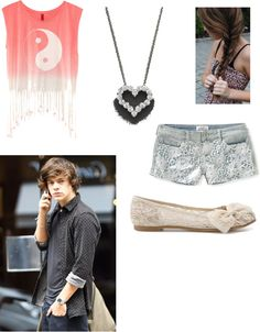 """""""Walking around Miami with Harry"""" by harrypotterfan6678 ❤ liked on Polyvore"""