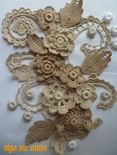Crochet Leaves, Crochet Mandala, Freeform Crochet, Filet Crochet, Irish Crochet, Crochet Motif, Crochet Designs, Crochet Doilies, Crochet Flowers