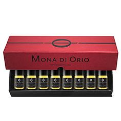 Now you can enjoy the first eight fragrances in the Les Nombres d'Or Collection with the Mona di Orio Discovery Box. The set is comprised of eight 5ml roll-ons in the signature black and red Mona di Orio presentation box. It's a nice way to get to know this deliciously luxurious line and still have some leftover for your faves. #luckyscent