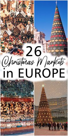 It's hard to choose the most beautiful Christmas Markets in Europe. Almost every big city on the old continent has a fair dedicated to winter holidays and each one is special in its way. #christmasmarkets #europe #christmas #christmas2020 #christmashollidays | 26 best christmas markets in europe | most beautiful christmas markets in europe | where to spend christmas in europe | european destinations for christmas