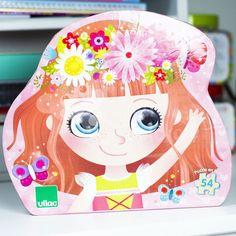 VILAC puzzel princess of flowers 4 jr+ / 54 stks Puzzles, Fun Challenges, Illustrations, Princess Peach, Clip Art, Children, Fictional Characters, Rousseau, Kids Toys
