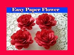 How to make easy beautiful paper flower - YouTube