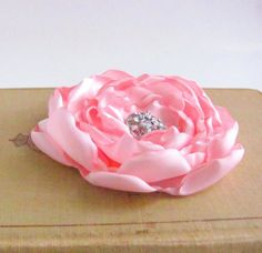 Light Pink Flower Hair Clip. Bridesmaid Hair by fabulousfinds, 16.00