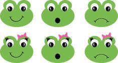Frog Faces Girl Ribbon Bow