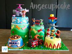 My sons paw patrol birthday cake 3rd Birthday Cakes, Paw Patrol, Sons, Food And Drink, Desserts, Fiestas, Angel, Tailgate Desserts, Deserts