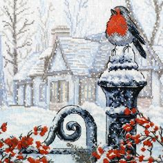 Вышивка «Рождественское утро» | Скачать схему бесплатно