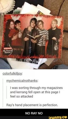 You can tell this is still early on when all they're photo shoots are super weird. And they all might've had too much coffee. I mean, look at Mikey. He's actually smiling.