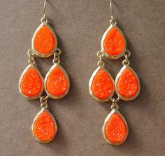 Neon Orange Earrings  #neonearrings #neonorange #neonaccessories