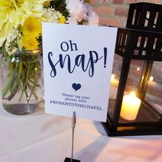 Oh, SNAP! Print at Home Wedding Sign! Choose from two different phrases - Share the Love and Oh Snap! Add these signs around your wedding to share your hashtag with friends and family. SIZE: - You will receive 2 PDFs with purchase. The firs How To Dress For A Wedding, Plan Your Wedding, Wedding Tips, Fall Wedding, Diy Wedding, Wedding Ceremony, Dream Wedding, Wedding Photos, Wedding Weekend