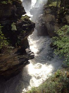 Athabasca Falls,  Jasper National Park, Yellowhead Hwy & Icefields Pkwy, Jasper, AB