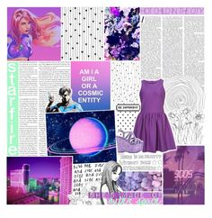 """""""✩; she's made of outer space —"""" by cosmic-qveen ❤ liked on Polyvore featuring art, cosmicmagazine and BotFHs1"""