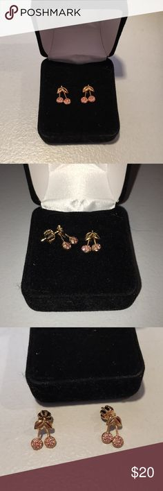Juicy Couture Earrings Cherry Earrings -never been worn -cant seem to locate original packaging so will be delivered in back jewelry box Juicy Couture Jewelry Earrings