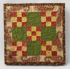 Double Nine Patch Doll Quilt, Circa 1870, Stella Rubin Antiques, Darnestown, MD