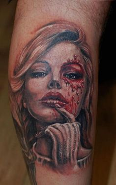 One session so far on this beauty, more to come in the new year, colour portrait from Ivan Bor at hammersmith tattoo!!