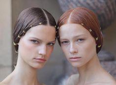 Hair : Guido Palau - Makeup : Pat McGrath - Ph. @fashiontomax — Valentino FW 2016 / 2017