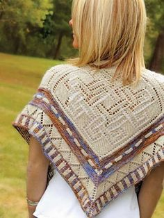 Knitting pattern High Chaparral Shawl - I love the geometric patterns with the multi-color yarn and Southwest feel. #ad More info  at Patternworks tba lace modular