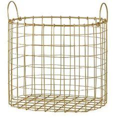 Decorative Gold Wire Bin - Room Essentials™